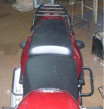 soporte lateral alforjas c/base bajaj 180 f rouser