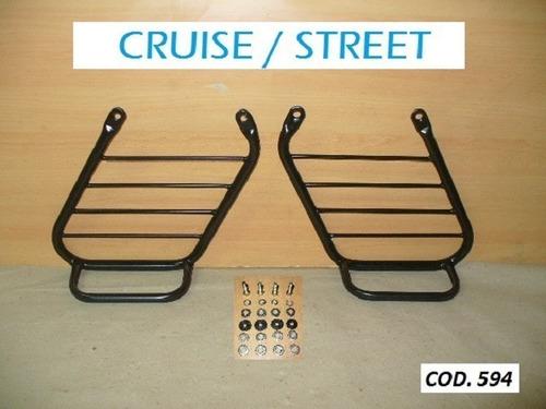 soporte lateral alforjas c/base bajaj 220 avenger cruise