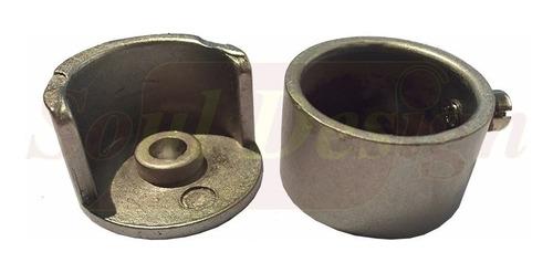 soporte lateral niquel satinado para barral diametro 22 mm