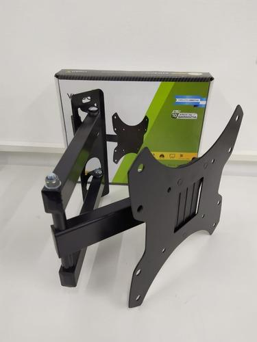 soporte lcd 42 40 32 movil articulado triple brazo 90° smart