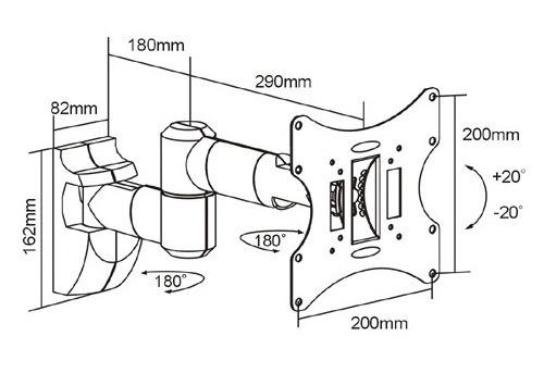 soporte lcd hasta 40  movil calidad superior doble brazo art