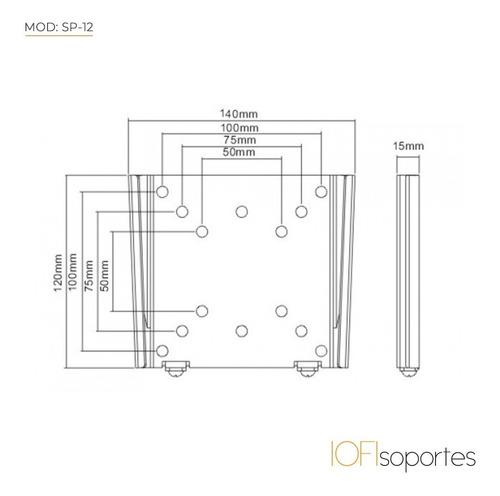 soporte lcd led iofi 19 21 23 22 24 32 fijo - premium