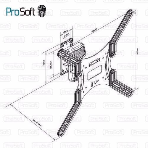 soporte led lcd movil articulado 32 40 42 47 reforz. prosoft