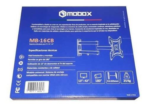 soporte led monitor/tv 13 -42  mobox mb-16cb