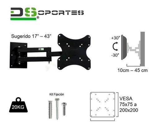 soporte led movil brazo doble articulado 32  39  40  42  43