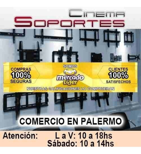 soporte led tv 32 42 43 49 50 55 cs4045 vesa 40x40 inclina