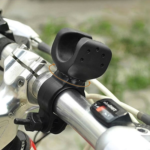 soporte linterna bicicleta