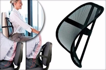 Soporte lumbar para silla columna vertebral anti stress for Soporte lumbar silla oficina