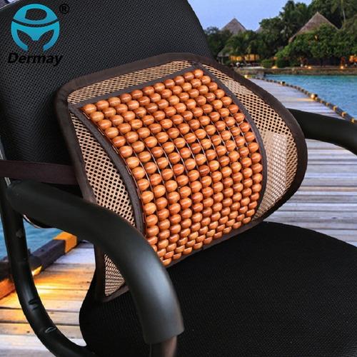 soporte lumbar para silla oficina auto grano madera calidad
