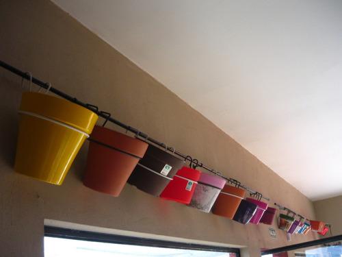 soporte maceta n 20-22-24, reja o pared portamaceta