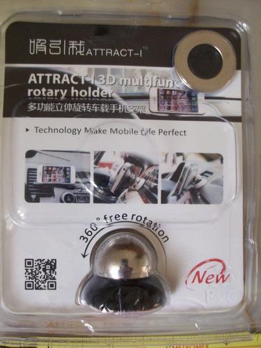 soporte magnético celular para auto o casa y 3 accesorios