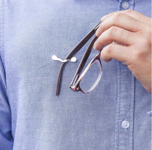 soporte magnético para gafas set x 2 plata / colores varios