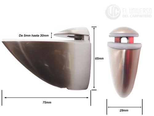 soporte mediano para repisa de vidrio o madera
