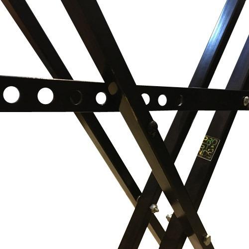 soporte mesa tijera teclado key pie doble negro pro stands
