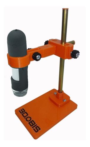 soporte microscopio ajustable base 150mm x 100mm 3d.obis