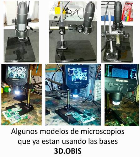 soporte microscopio ajuste altura manual 3d.obis