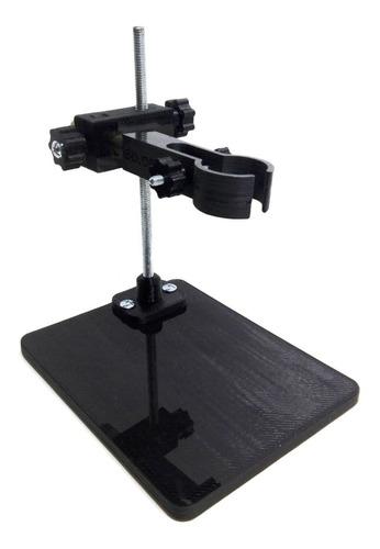 soporte microscopio regulacion altura a rosca 3d.obis