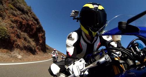 soporte montaje lateral casco camara gopro moto bicicleta