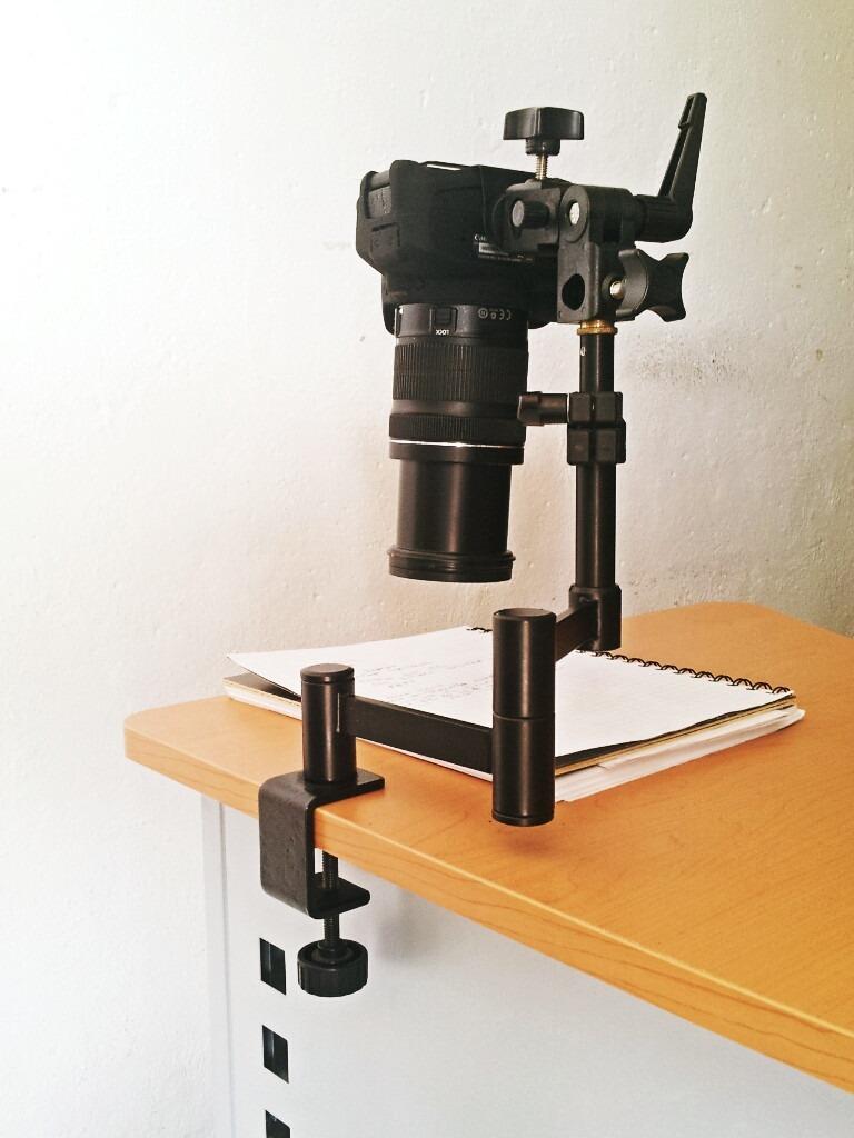 soporte montar camara escritorio mesa foto documentos vbf
