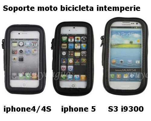 soporte moto bicicleta intemperie iphone 5 5g iphone5