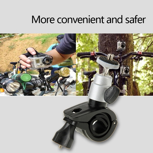 soporte motocicleta bicicleta montaje manillar para gopro