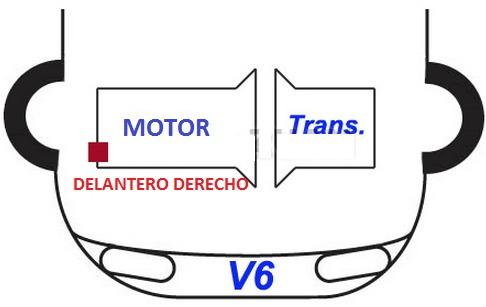 soporte motor delantero acura cl 3.0l v6 1997 - 1999 nuevo!!