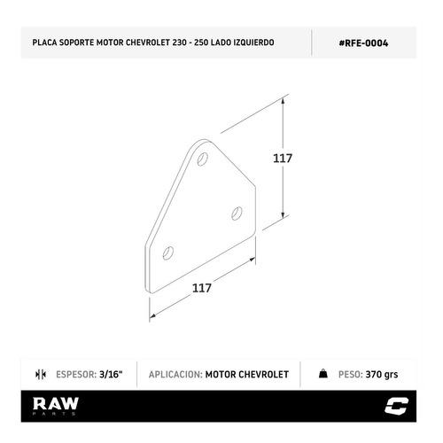 soporte motor der. chevrolet 250 placa p/ fabricar raw parts