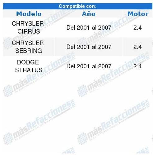 soporte motor dodge stratus 2001 2002 2003 2004 2005 2006