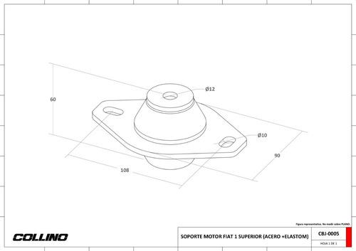 soporte motor fiat uno superior elastomero collino