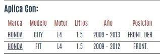 soporte motor front. der. honda city l4 1.5 2009 a 2013 vzl