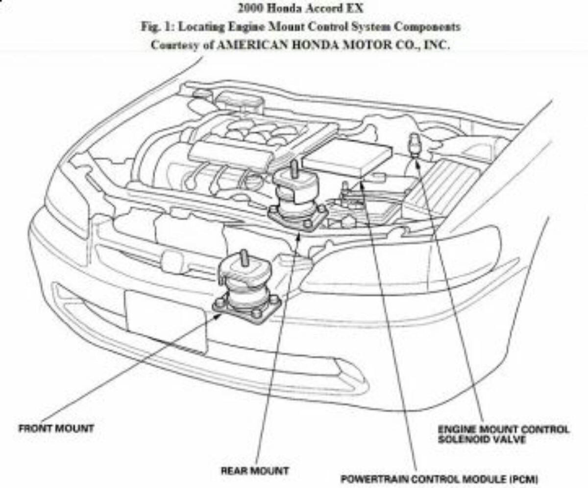 soporte motor honda accord v6 3 0l 1998 a 2002
