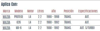 soporte motor trans. mazda protege l4 2.2 1990 a 1998 vzl