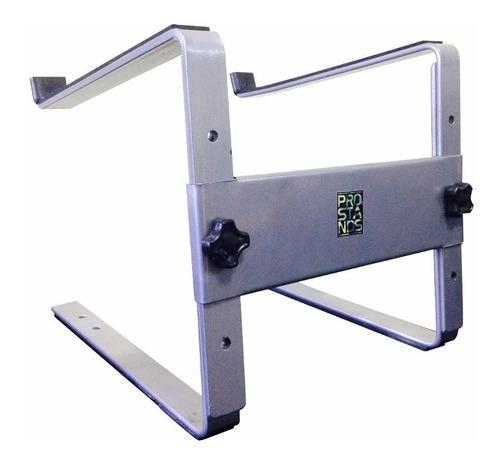 soporte notebook controlador mixer dj gris plata pro stands