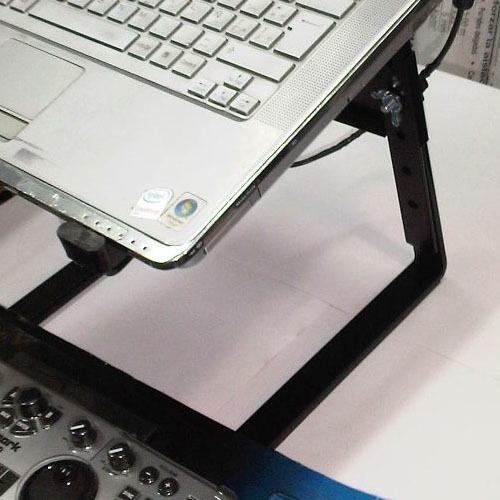 soporte notebook controlador mixer dj negro pro stands