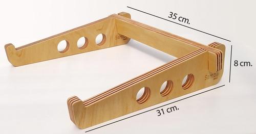 soporte notebook samba diseño madera para mejorar la postura