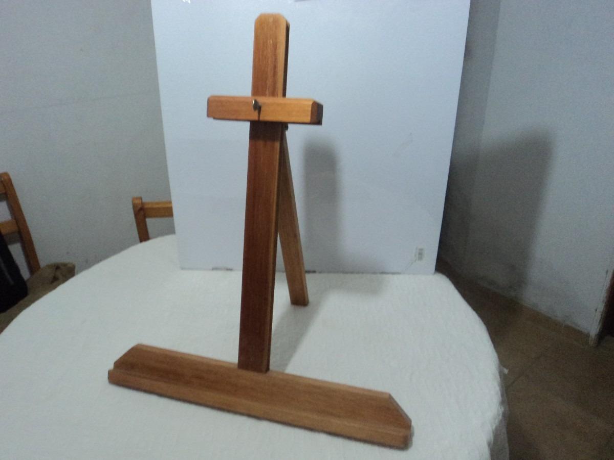 Soporte o caballete sobre mesa para pintor cuadros de - Madera para pintar ...