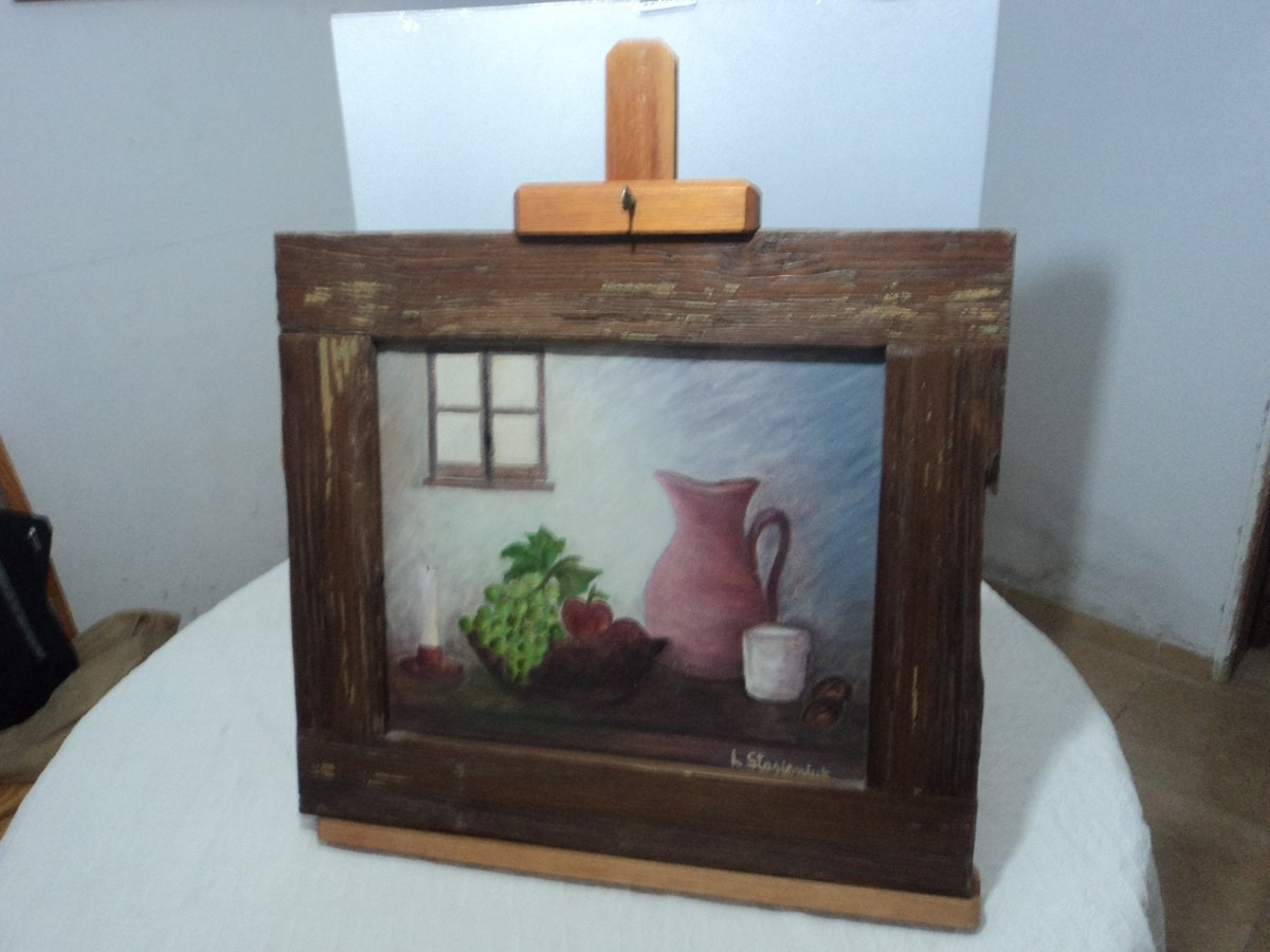 Soporte o caballete sobre mesa para pintor cuadros de - Caballete de mesa ...