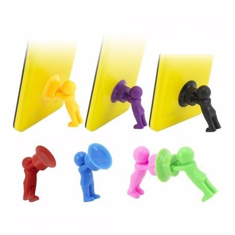 soporte o porta celular tipo muñeco escritorio facil llevar