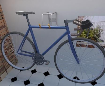 soporte organiador colgador bicicleta parqueadero horizontal