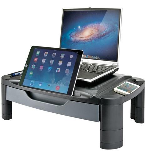 soporte organizador escritorio monitor egonomia cajon aidata