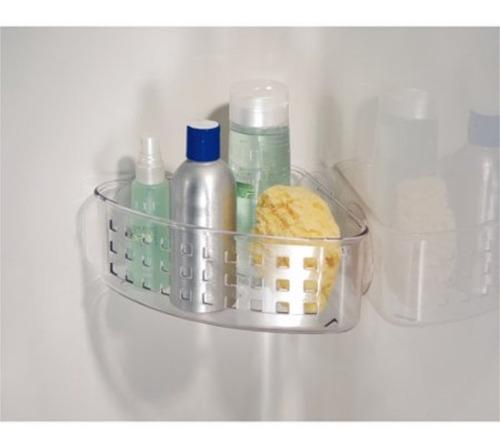 soporte organizador esquinero con succión ducha ref. 41900