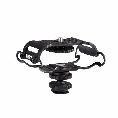 soporte p/ grabador tascam microfono c/ suspensión zapata