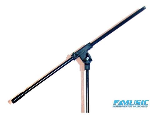 soporte p/ microfono boom jirafa reforzado negro