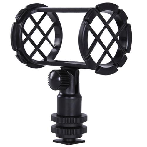 soporte p/ micrófono c/ suspensión zapata universal y rosca