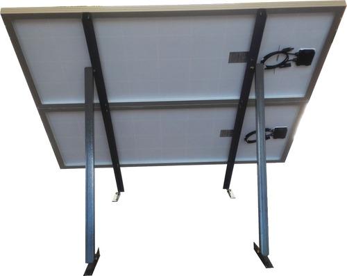 soporte para 2 panel solar 150w, techo o loza horizontal