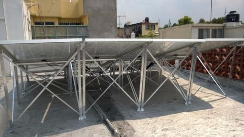 soporte para 2 paneles solare fabricado en aluminio, de 10w