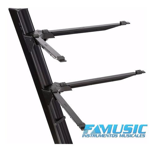 soporte para 2 teclados stay slim 1100-02 aluminio con funda