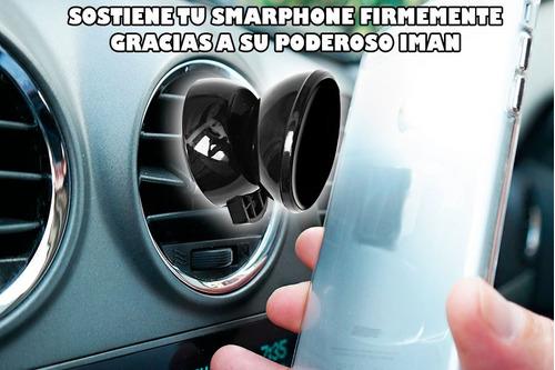 soporte para auto con iman compatible con todo los smarphone