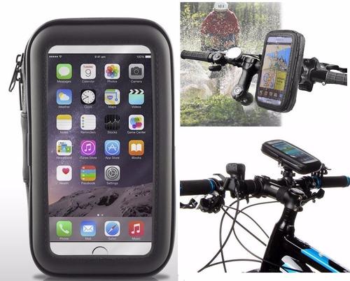 soporte para bicicleta - moto impermeable celulares gps 4.7