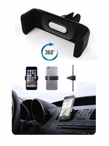 soporte para carro 360° samsung, huawei, iphone, htc,lg caja